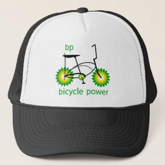 BP monta en bicicleta el gorra de los camioneros