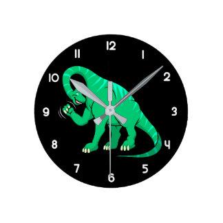 Brachiosaurus Reloj Redondo Mediano