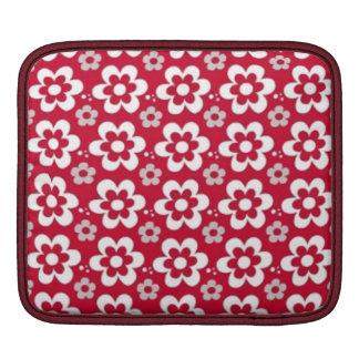 branco del em de COM Flores del vermelho del em Funda Para iPads