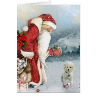 Brandi y navidad del padre tarjeta de felicitación