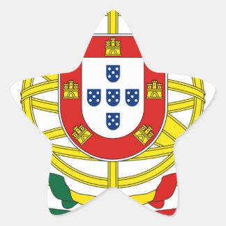 Brasão de Armas (escudo de armas) de Portugal Pegatina En Forma De Estrella