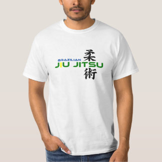 Brasilen@o Jiu Jitsu con los caracteres japoneses Camisetas