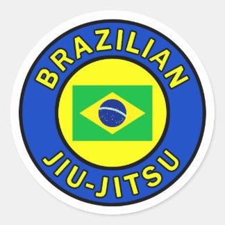 Brasilen@o Jiu-Jitsu Pegatina Redonda