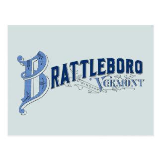 Brattleboro, posición 1896 del logotipo de postal