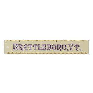 Brattleboro, regla 1886 del logotipo del VT
