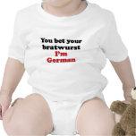 Bratwurst alemán trajes de bebé