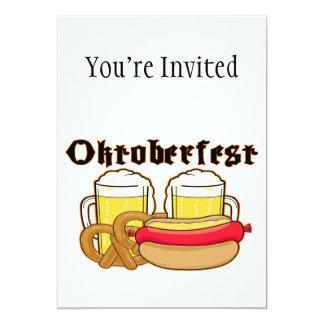 Bratwurst y cerveza de Oktoberfest Invitación 12,7 X 17,8 Cm