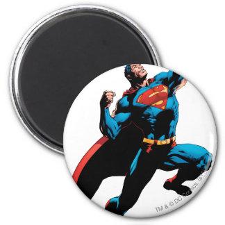 Brazos del superhombre aumentados iman de nevera