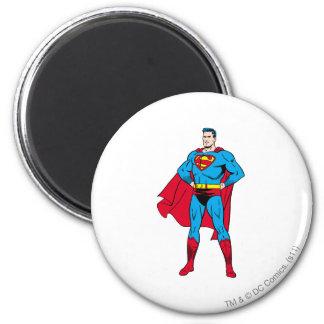 Brazos del superhombre doblados imán para frigorífico