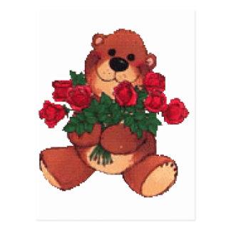 Brazos por completo de rosas postal