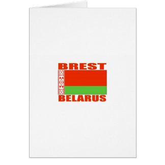 Brest, Bielorrusia Tarjeta De Felicitación