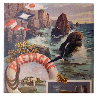 Bretaña - en Mer Bretaña de Ile de la belleza Azulejo Cuadrado Grande