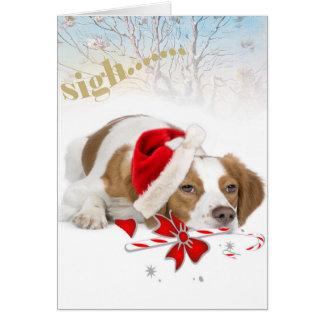 Bretaña Santa toma tarjetas tan largas