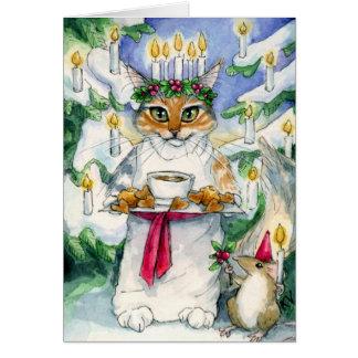 Brezo como tarjeta de Navidad de Santa Lucía