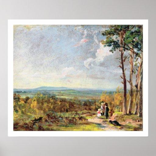 Brezo de Hampstead que mira hacia la grada, 1821 ( Posters