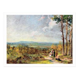 Brezo de Hampstead que mira hacia la grada, 1821 ( Tarjeta Postal