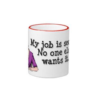 Brezo - seguridad en el empleo taza de dos colores