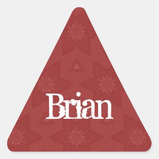 BRIAN - triángulo rojo conocido de encargo G502 Colcomanias Trianguladas