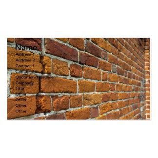 Brickwall Plantilla De Tarjeta De Visita