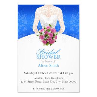 Bridal Shower blue invitation Invitación