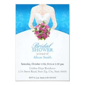 Bridal Shower light blue invitation Anuncios Personalizados