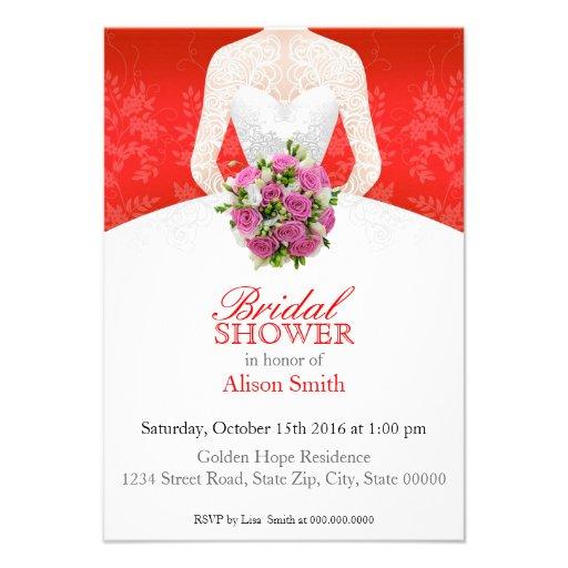 Bridal Shower red invitation Anuncios