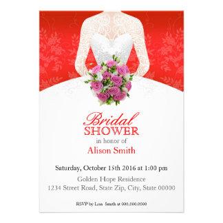 Bridal Shower red invitation Invitación Personalizada