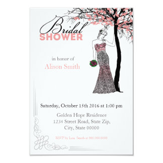 Bridal Shower romantic invitation Invitacion Personalizada