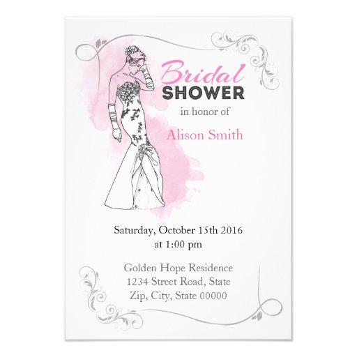 Bridal Shower romantic invitation Anuncio