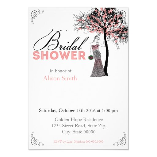 Bridal Shower romantic invitation Anuncios
