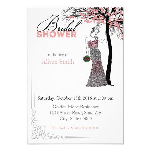 Bridal Shower romantic invitation Invitacion Personalizada