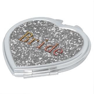 Bride_ALL SEASON'S-SILVER--Bronce-Corazón Espejo De Maquillaje