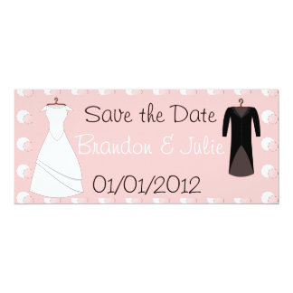 Bride and Groom clothes save the date