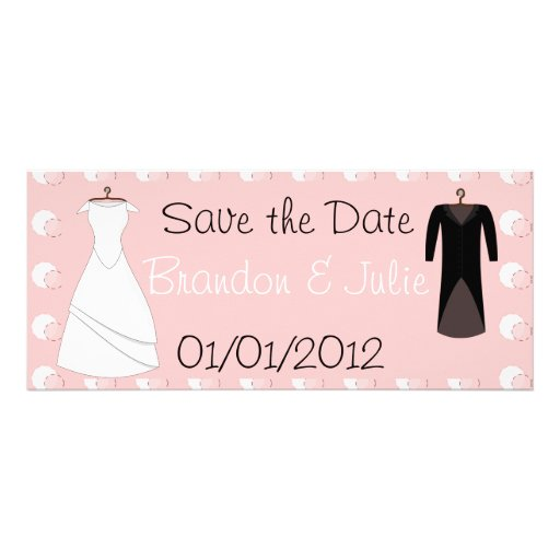 Bride and Groom clothes save the date Anuncios Personalizados