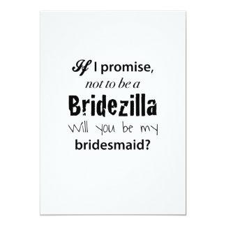 Bridezilla - invitación de la dama de honor