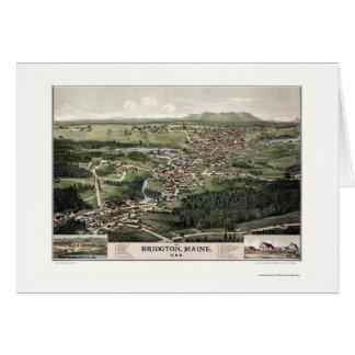 Bridgton, YO mapa panorámico - 1888 Felicitacion