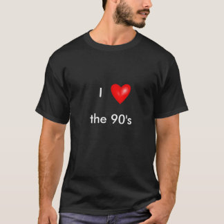 bright_red_heart, I, los años 90 Camiseta