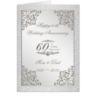Brilla la 60.a tarjeta del aniversario de boda de