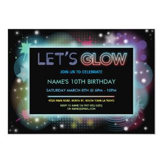 Brillemos intensamente fiesta de cumpleaños invitación 12,7 x 17,8 cm