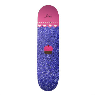 Brillo azul de neón personalizado de la magdalena tabla de patinar