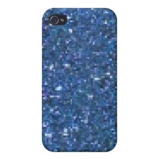 Brillo azul iPhone 4 cárcasas