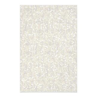 Brillo blanco llano del confeti papeleria de diseño
