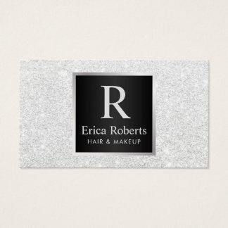 Brillo blanco moderno del estilista del artista de tarjeta de visita