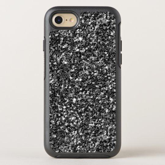 Brillo blanco y gris negro funda OtterBox symmetry para iPhone 7