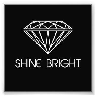 Brillo brillante como un diamante impresiones fotográficas