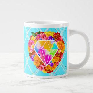 Brillo brillante como un diamante taza de café gigante