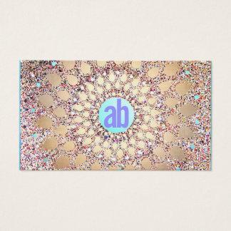 Brillo colorido, único y festivo del monograma tarjeta de visita