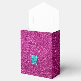 Brillo conocido personalizado de la turquesa del caja de regalos