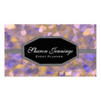 Brillo cristalino elegante tarjetas de visita