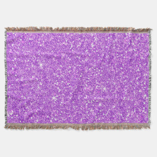 Brillo de lujo del diamante del brillo púrpura manta